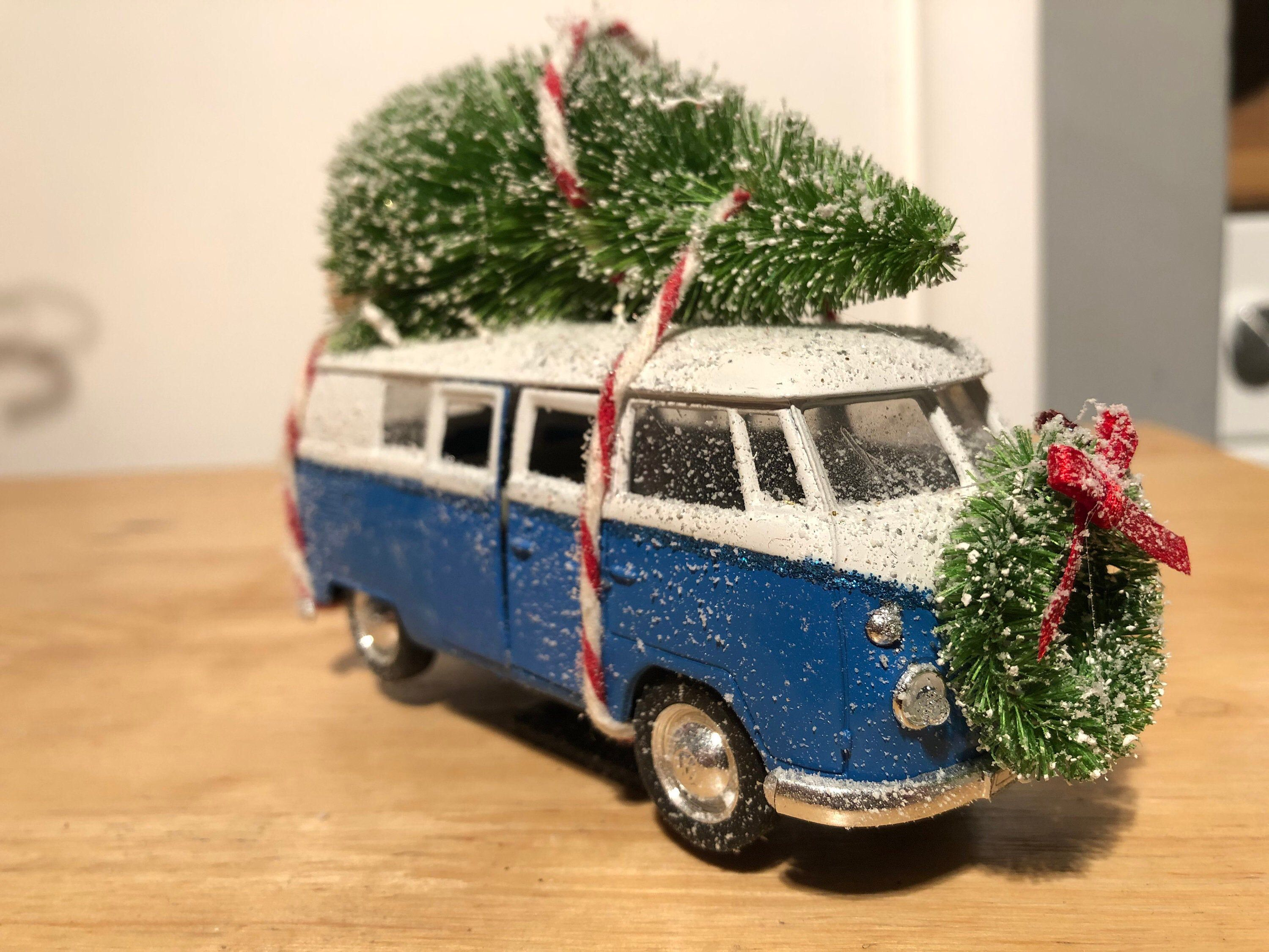 Pink Christmas VW Camper Van Christmas Tree Bauble Decoration