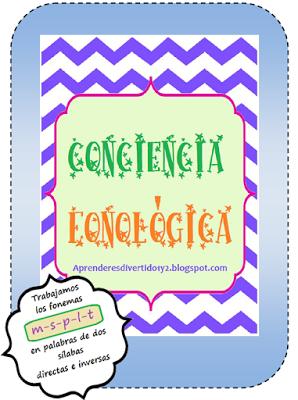 APRENDER ES DIVERTIDO 1º Y 2º: Conciencia fonológica