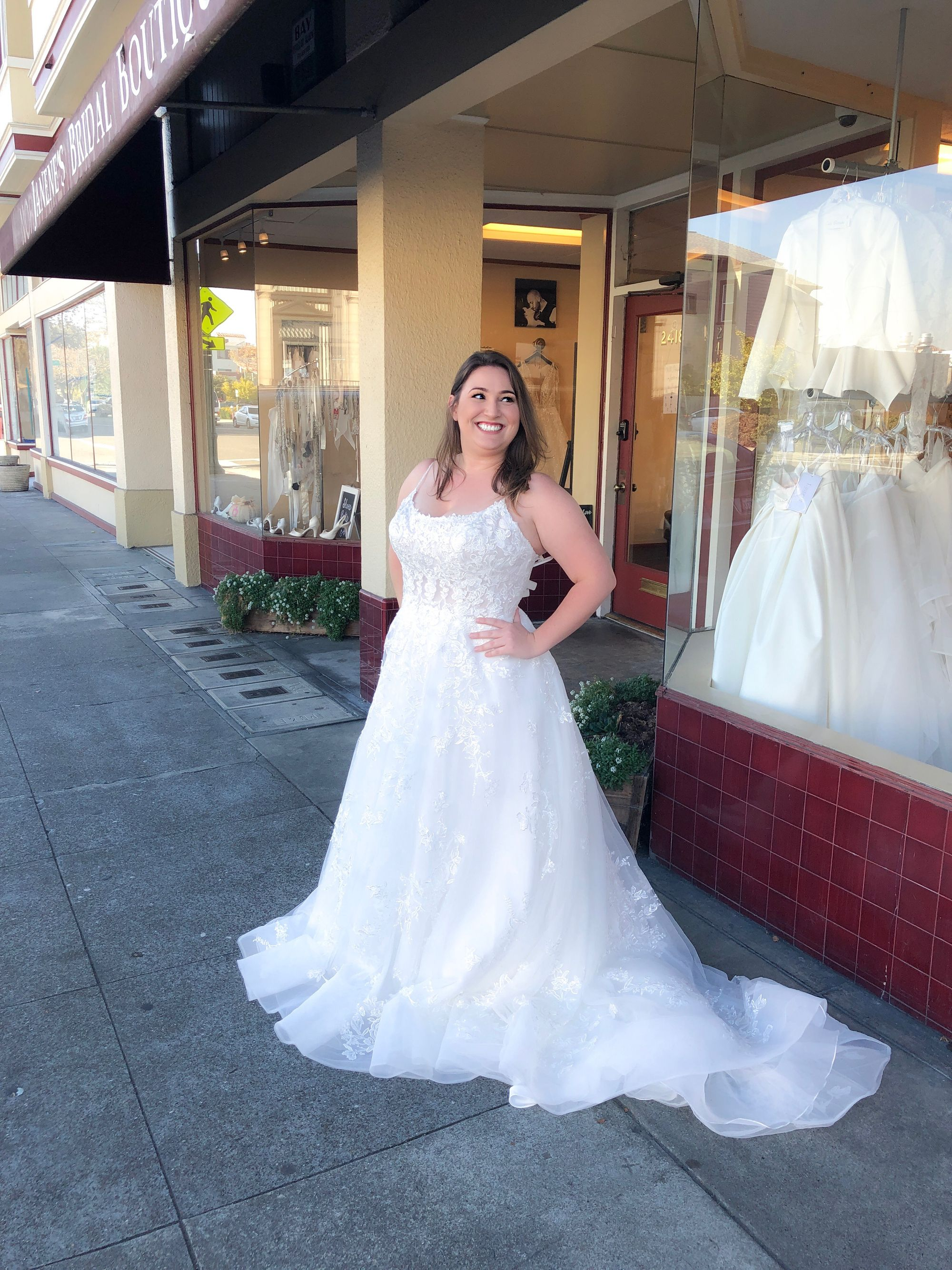 Super Gorgeous New Arrival In Our Plus Size Section D2843 By Essense Of Australia Avail Designer Wedding Dresses Bridal Boutique Wedding Dress Shopping