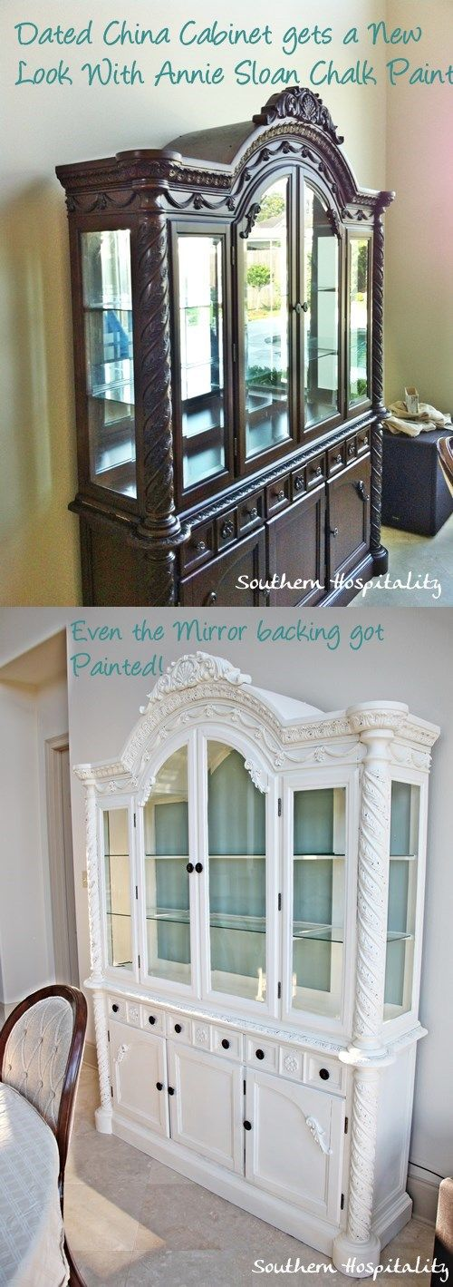 China Cabinet Painted On Pinterest