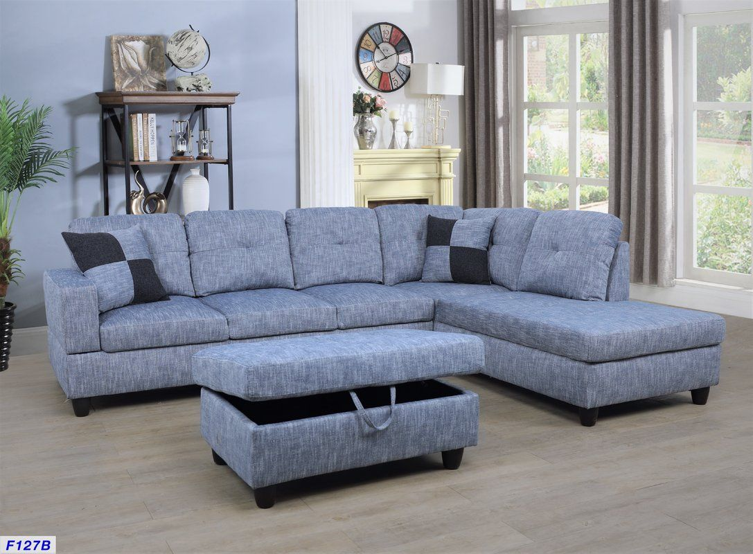 Russ Sectional With Ottoman Reviews Birch Lane