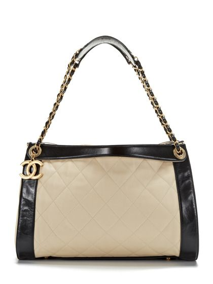 Light Beige and Black In the Mix Tote Bag