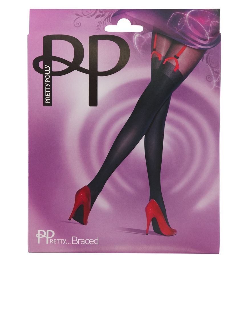 Buy Braced Suspender Tights by Pretty Polly at figleaves.com - We have the Best Brands, Offer Free Returns and Next Day Delivery