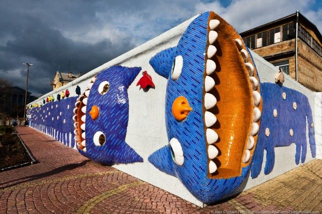Hang out at the Sculptures Alley in Kyiv
