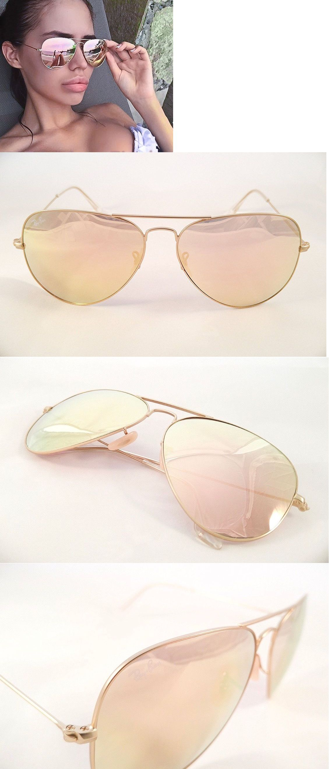 Sunglasses 155189: Ray-Ban Aviator - Gold Frame   Rose Gold (Copper ...