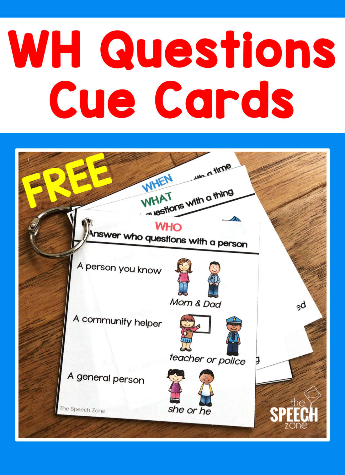Use These Free Wh Questions Cue Cards As Visuals For