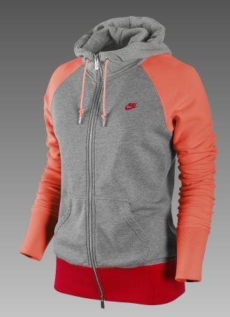 nike sweater womens orange