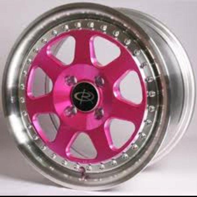 Pink Rims For My Car #vwiroc #pinkrims Pink Rims For My Car #vwiroc