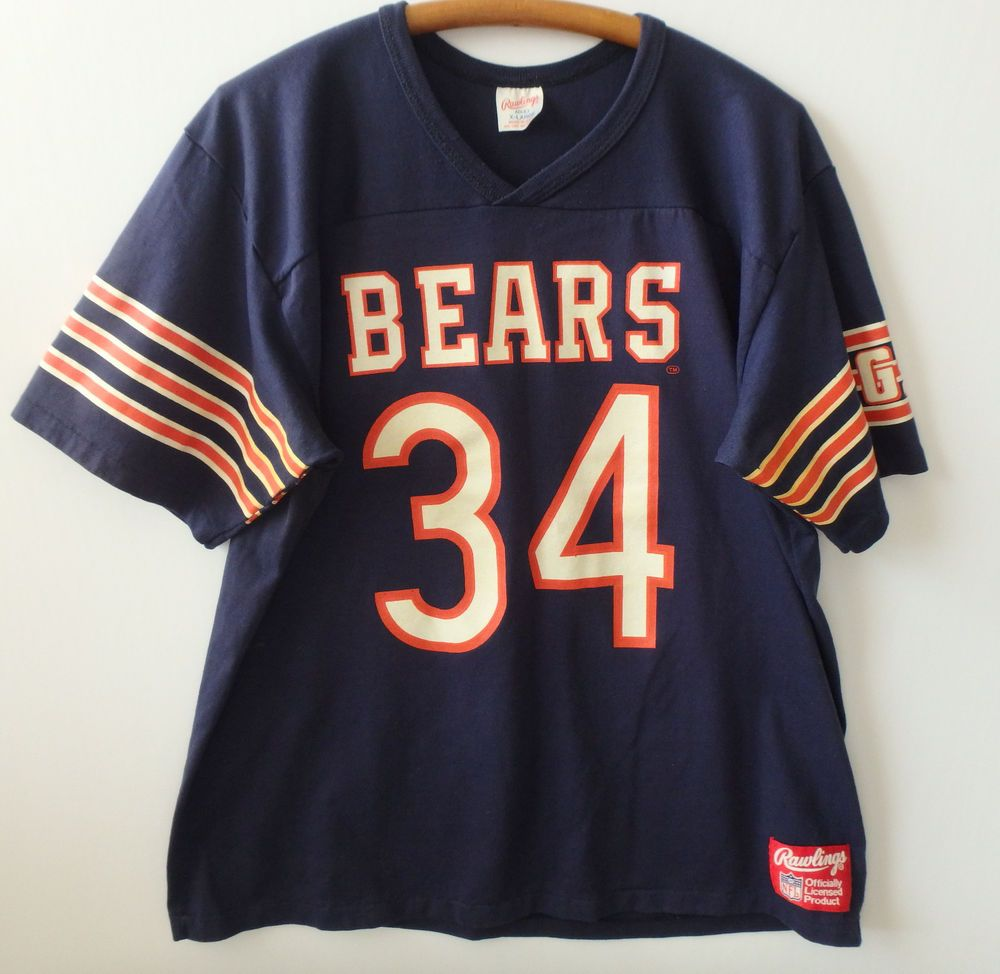 8543ed198 VTG 80s Walter Payton Chicago Bears NFL Jersey 34 XL L Rawlings Screen  Printed  Rawlings  ChicagoBears