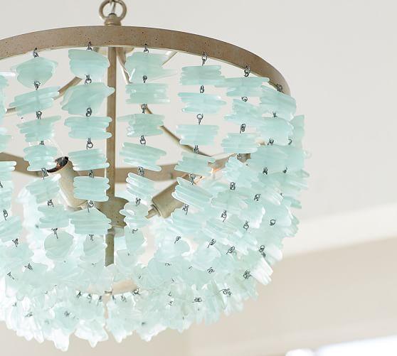 enya seaglass chandelier sea glass