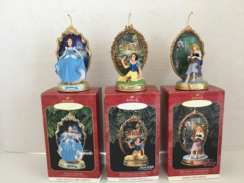 Hallmark Ornament Disney Enchanted Memories Cinderella Snow White Sleeping Beauty Hallmark Disney Ornaments Disney Enchanted Disney Ornaments