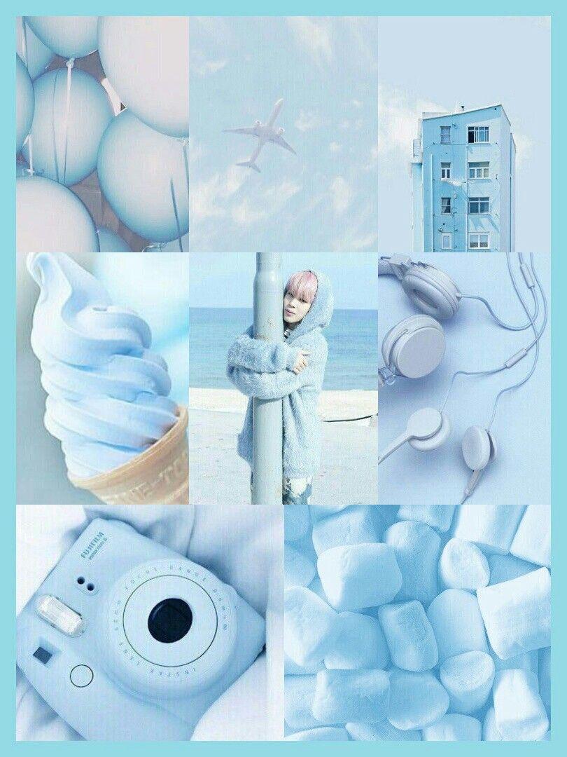 Park Jimin Blue Pastel Aesthetic Food Ice Cream Sweet Camera Earphones Places Kpop Bts Bangtan Baby Blue Wallpaper Bts Wallpaper Jimin Wallpaper Icy blue aesthetic baby blue wallpaper
