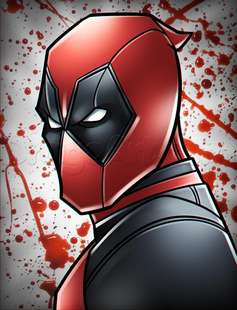 Drawing Deadpool Easy Drawings In 2019 Pinterest Drawings