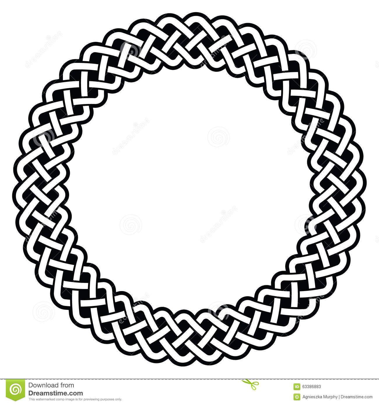 celtic round frame border pattern vector irish black circle isolated rh pinterest com au  celtic border clipart vector