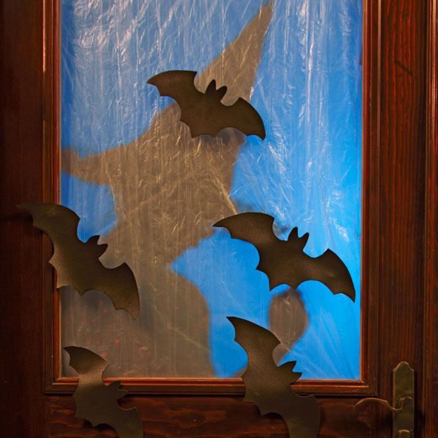 Spooky Bats and Frosted Windows DIY