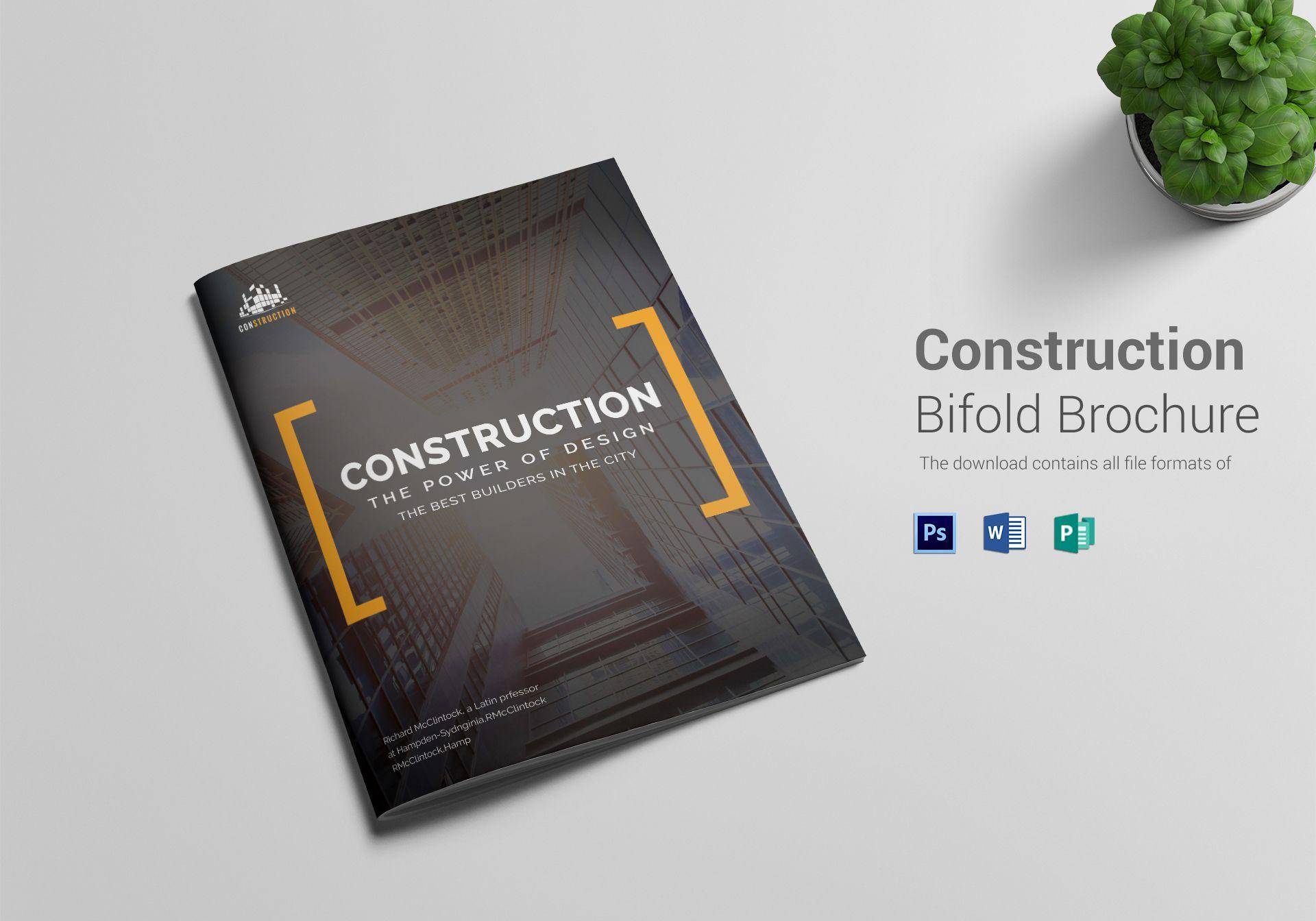 Construction Company Brochure Template Company Brochure Company