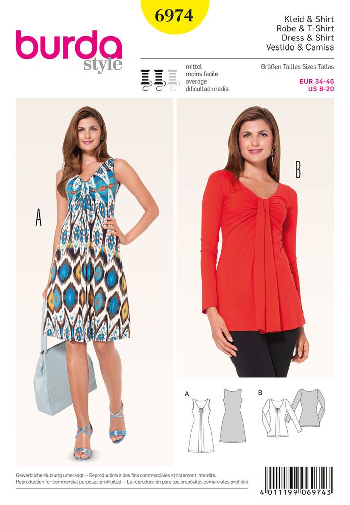 Burda Style Tops, Shirts, Blouses | Sewing Patterns | Pinterest ...