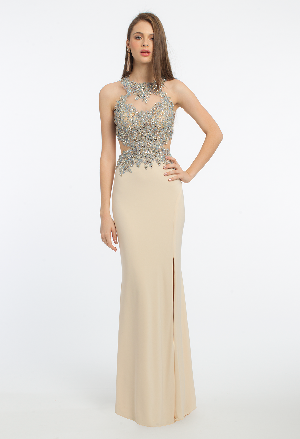 What do you need for an extravagant evening this long prom dress