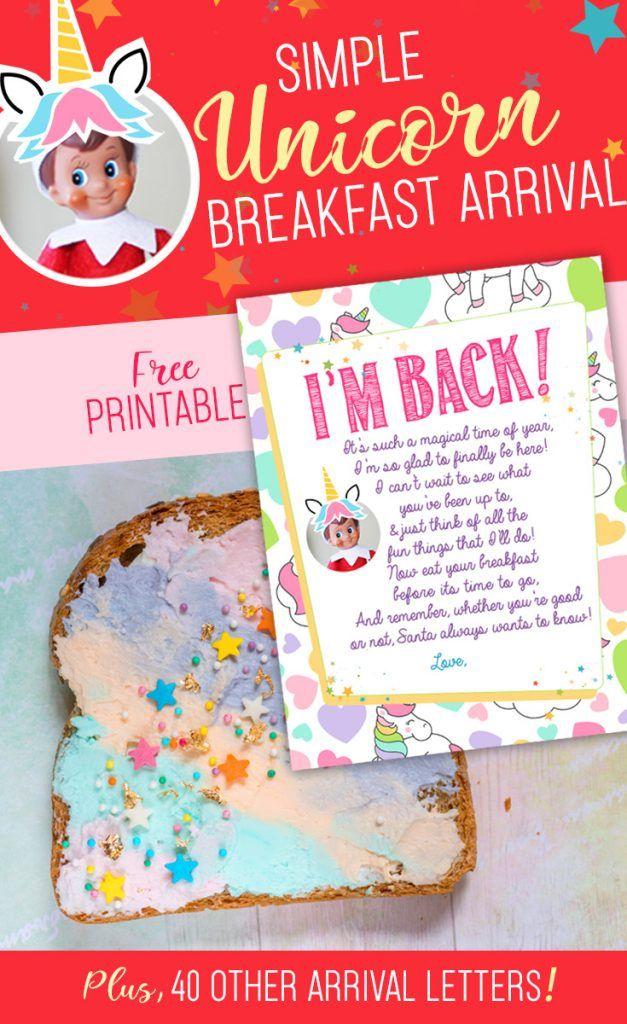 Elf on the Shelf Unicorn Arrival Letter | Free Printable!