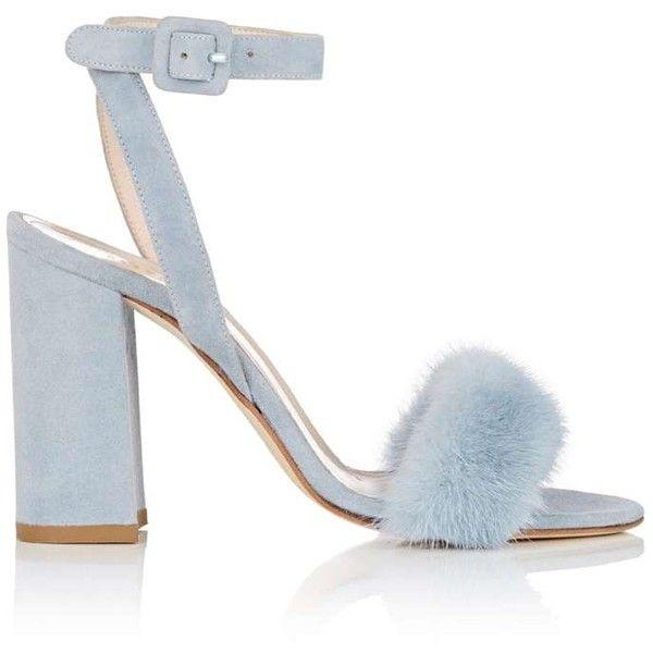 da6de9ac8d9 Barneys New York Women s Fur-Trimmed Suede Sandals ( 350) ❤ liked ...