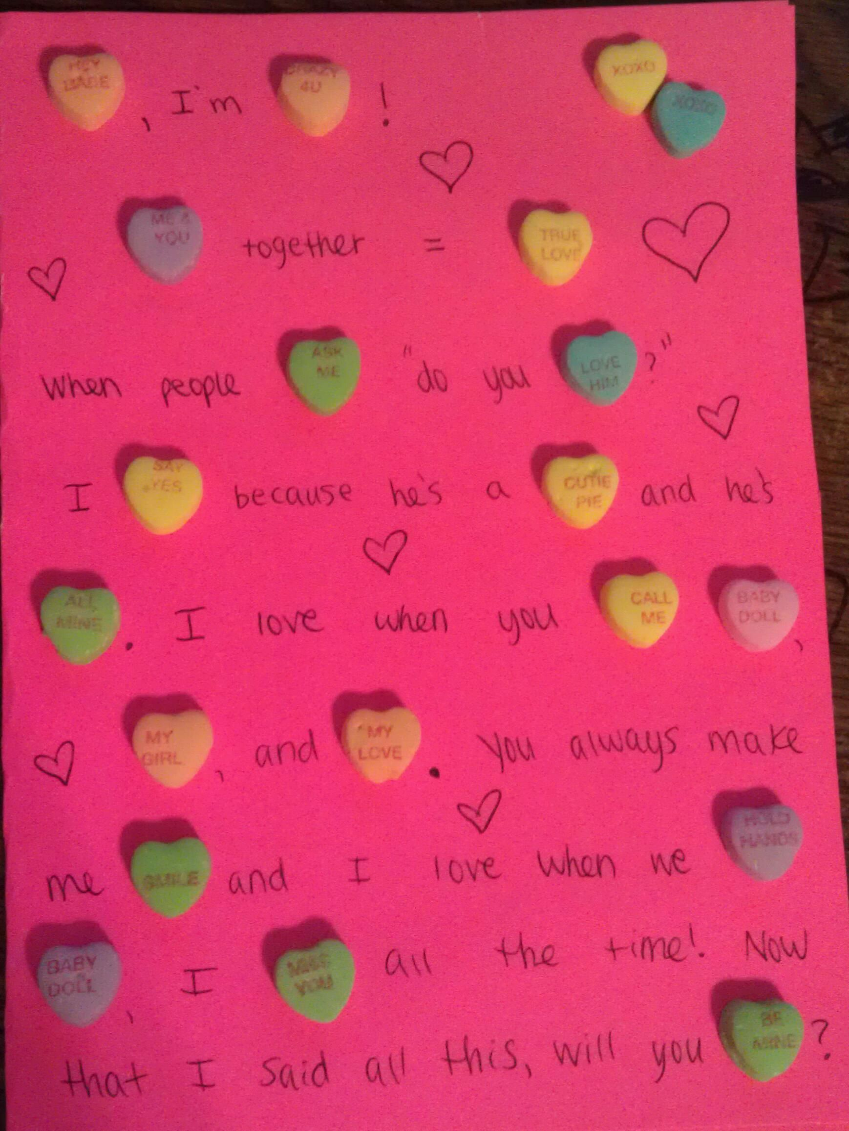 Homemade Valentines Day Card For My Boyfriend) Uploaded With Pinterest
