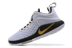 955f7c429eb88 Mens Nike Zoom Witness EP Lebron James White Black Wolf Grey Metallic Gold  852439 109 Basketball