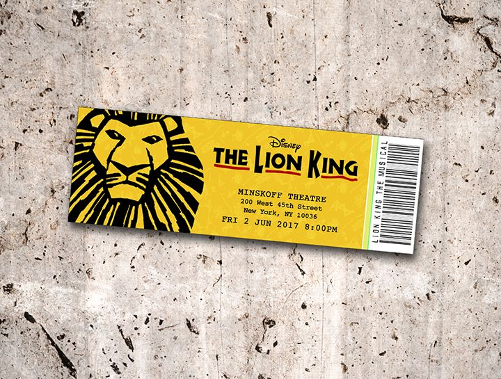 Collectible Theater Tickets Personalized Digital Printable With