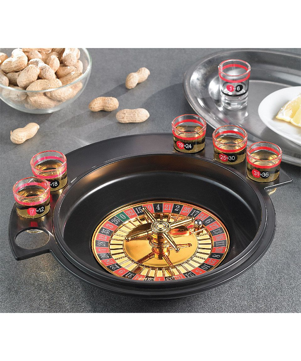 This Drinking Roulette Game Set by Jay Import is perfect