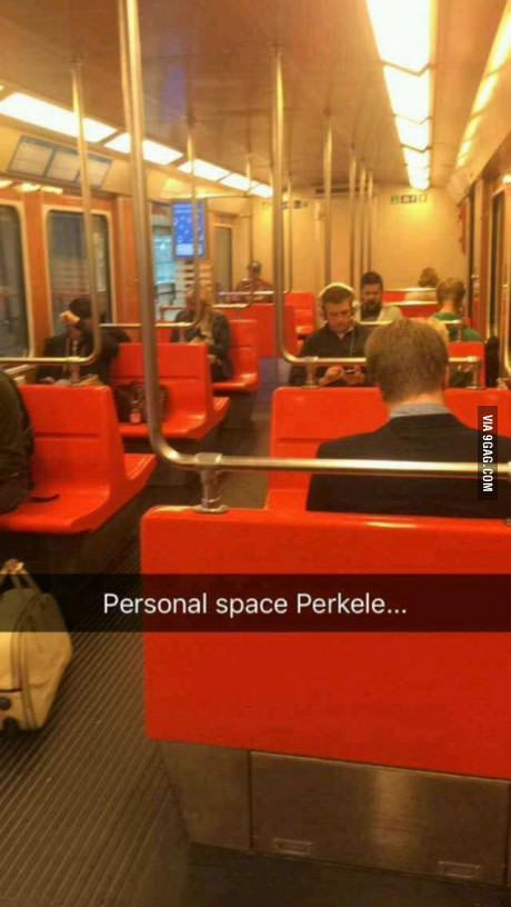 If go train like this in finland you have to stand.