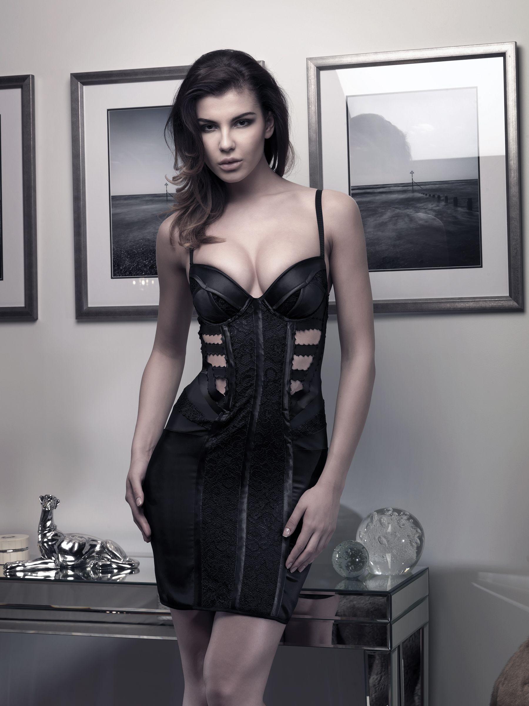 Black Label Onyx Dress #fashion #luxury #lingerie #dress #onyx #madetoorder #contour #silk #lace #readytowear