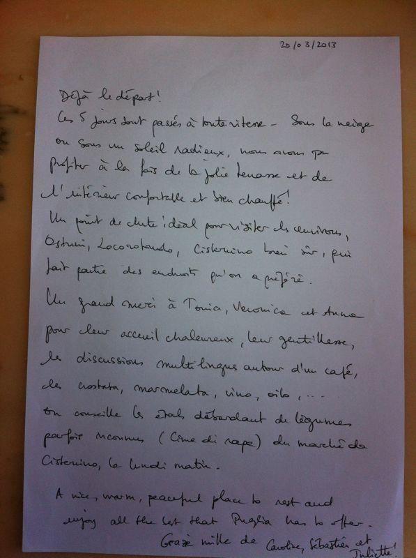 From FRANCE - Merci à Caroline, Sebastien et Juliette!