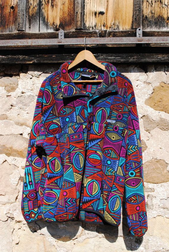 2f52a48b3a651 Vintage Patagonia Fleece Pullover in Amazing by 2cutevintage