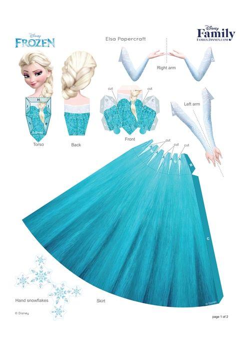 14 Disney Princess 3D Paper Doll Printable
