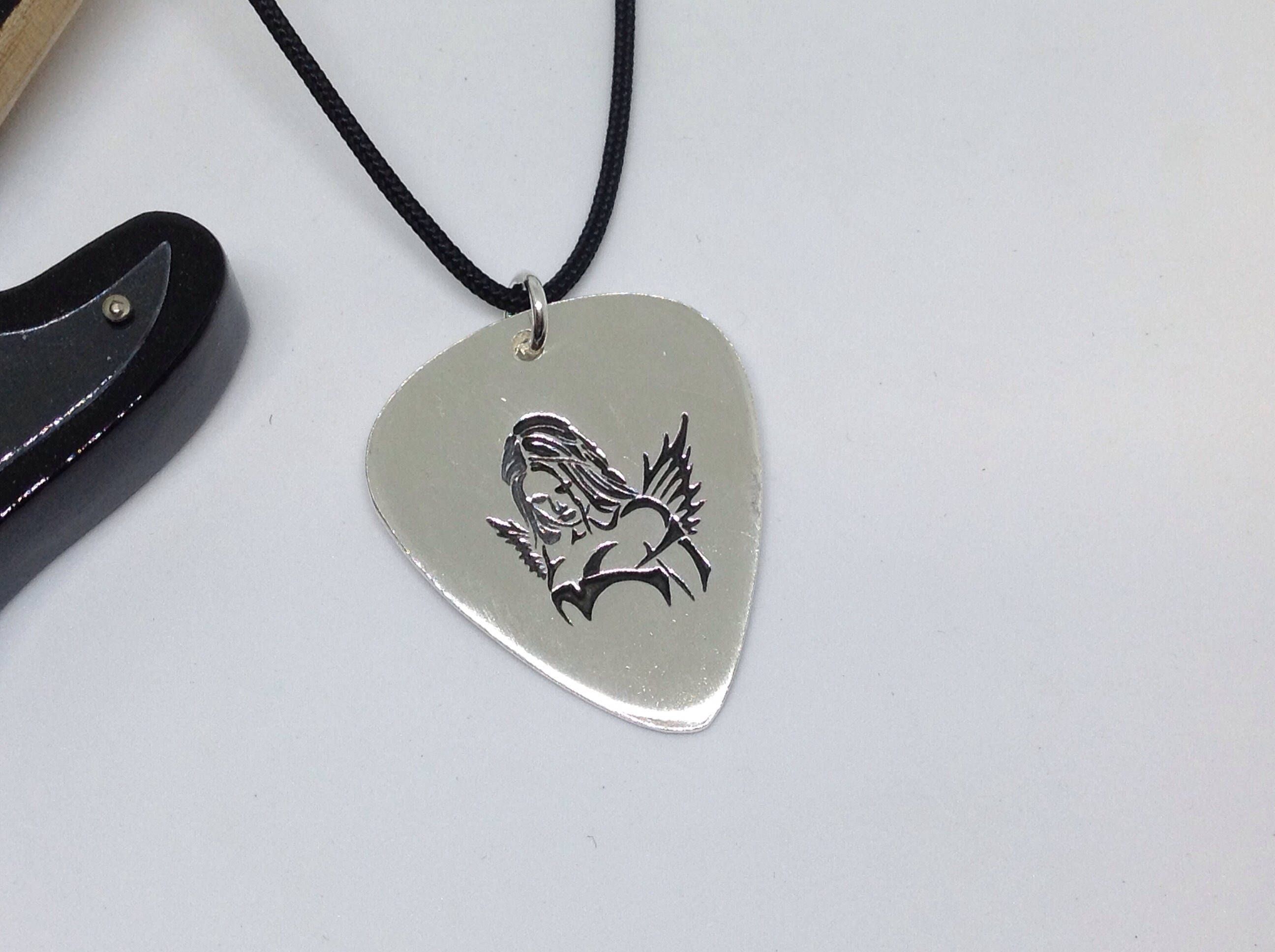 Unique silver guitar pick personalized silver guitar pick custom unique silver guitar pick personalized silver guitar pick custom silver rockers gift christmas gift for guitar player aloadofball Image collections