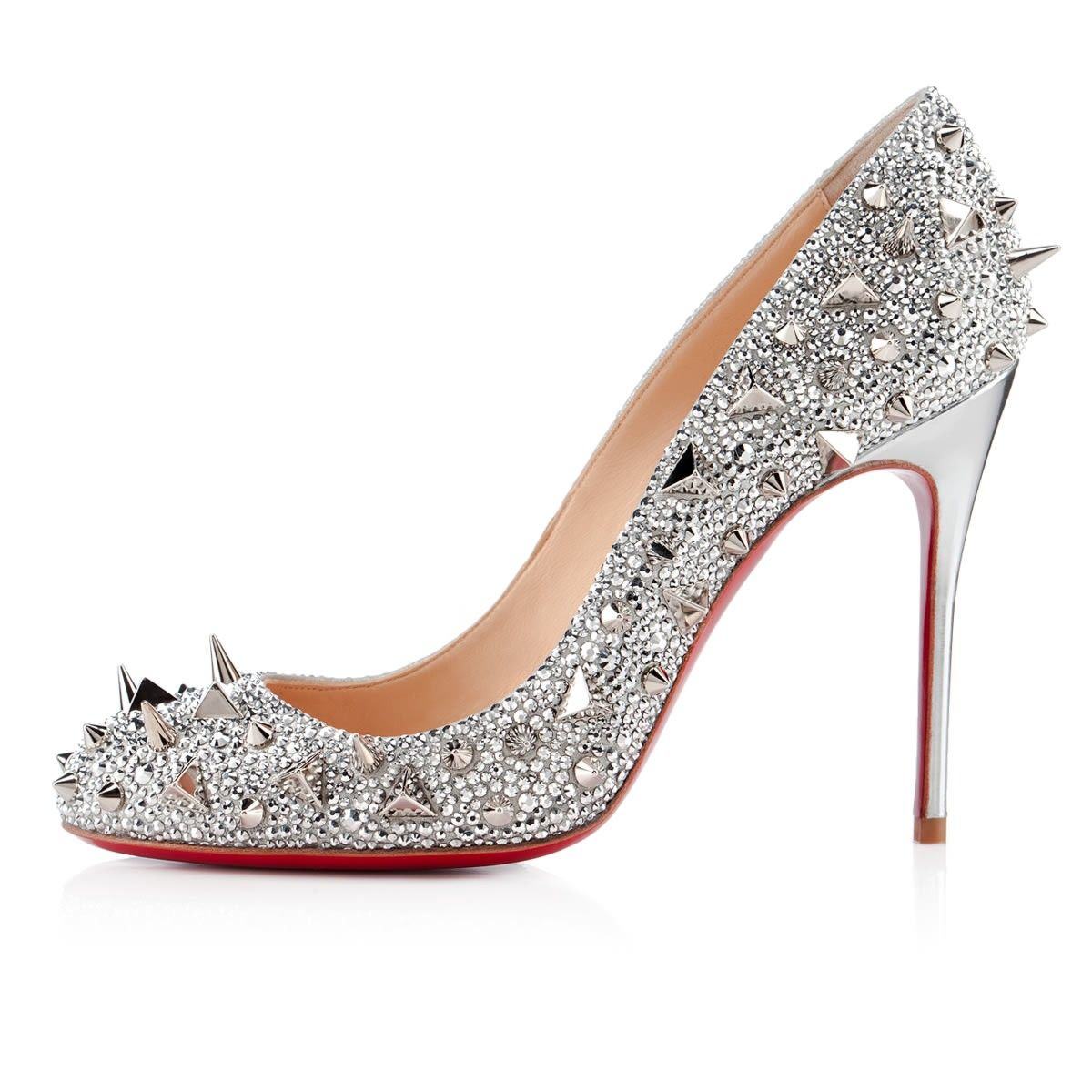 All You Need is Love And Christian Louboutin Fifi Strass Pumps Silver CRG!