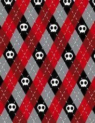 Red Black And Grey Argyle With White Skulls Argyle Skull Wallpaper Pattern