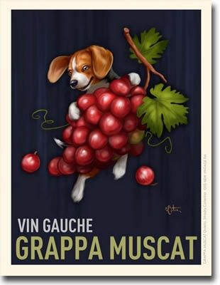 Vintage Wine Poster With A Beagle Don T Quite Get The Beagle