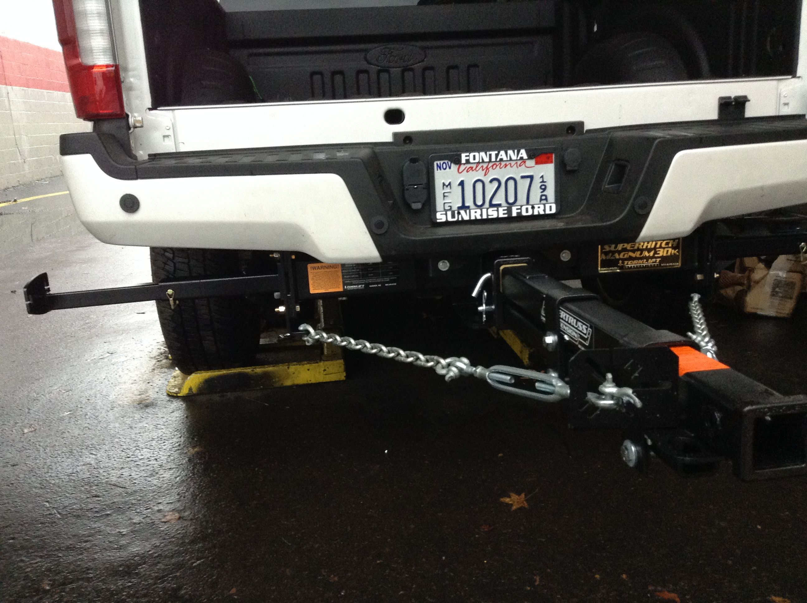 hight resolution of torklift tie down superhitch and supertruss extension setup on a 2017 ford f350