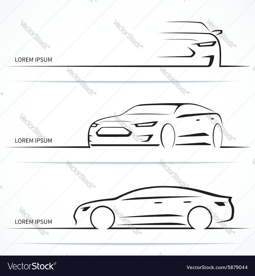 Set Of Luxury Car Silhouettes Royalty Free Vector Image Ad Car Silhouettes Set Luxury Ad In 2020 Vector Free Infographic Design Template Car Silhouette
