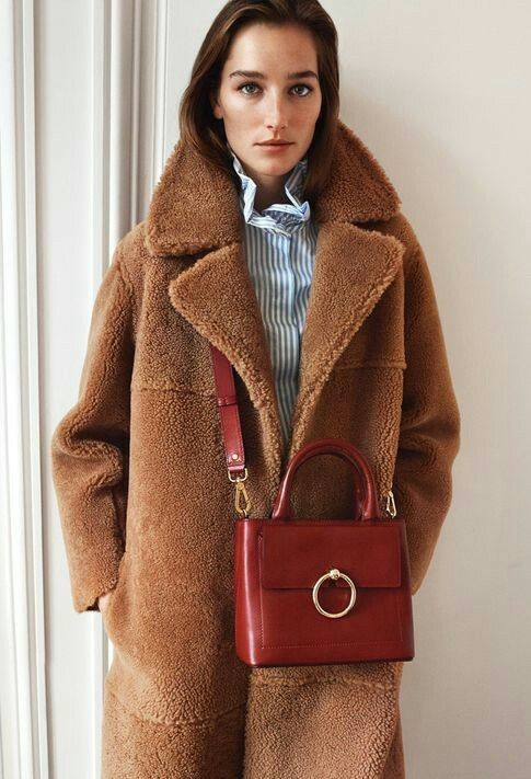Super Manteau peau de mouton Fancy Bis Claudie Pierlot hiver 2017-2018  SK29