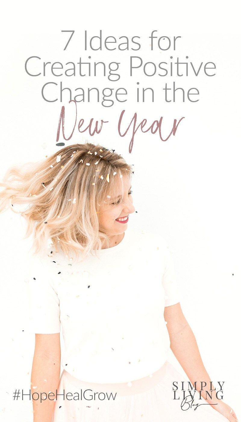 Start the new year off on a positive note with a few ideas to improve your mental and physical health, and create positive changes in your life.#healthyliving #positivechange #newyear
