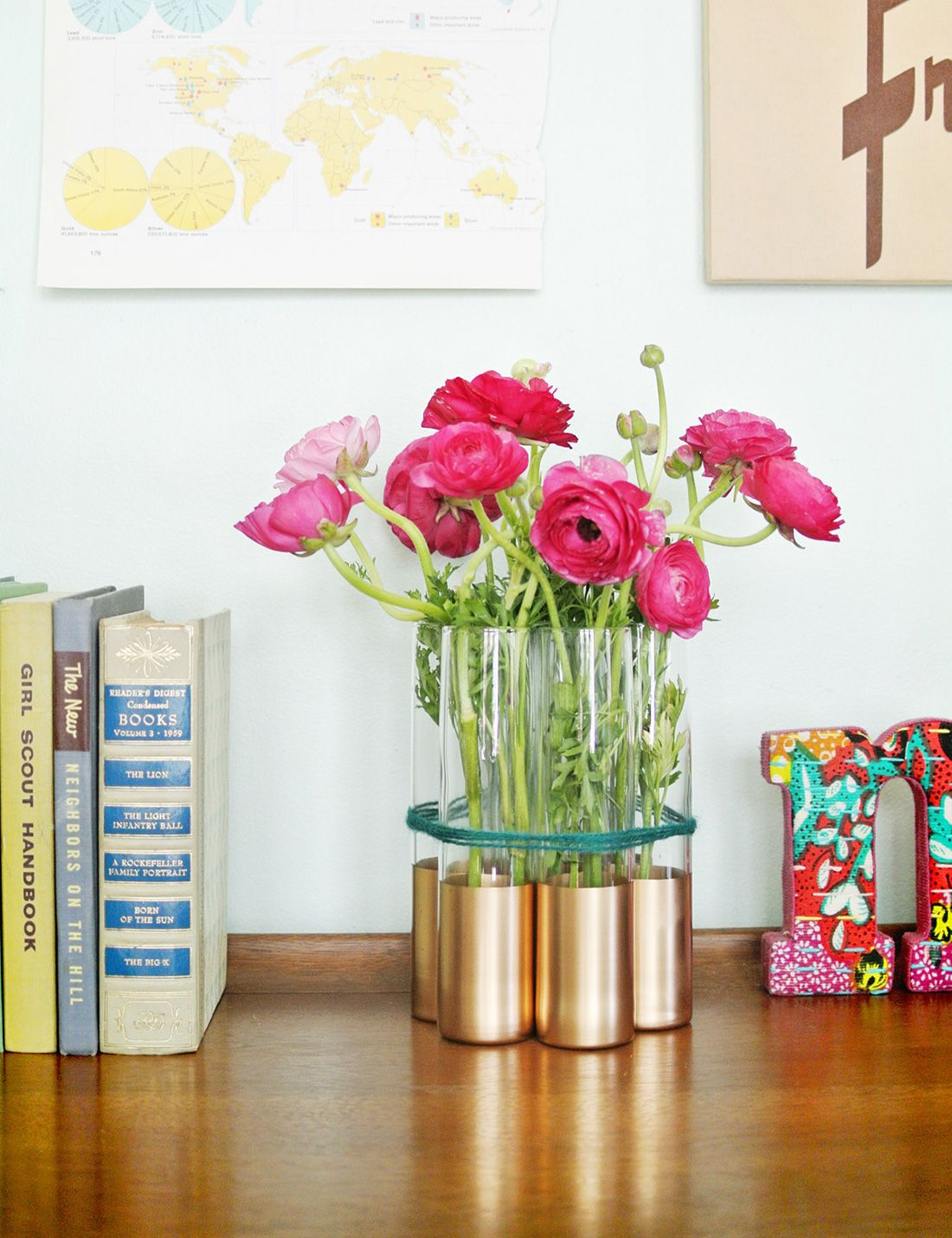 DIY these gold-dipped bud vases with this tutorial.