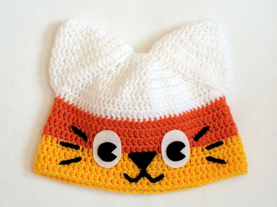 Candy Corn Kitty Crochet Hat by Twinkie Chan ~ PATTERN FOR SALE ...