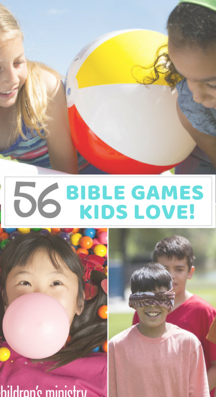 Kick Up Any Sunday School Lesson with these 56 Bible games Kids will love these games