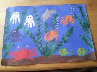 ocean craft handprint fish handprint-and-footprint-art