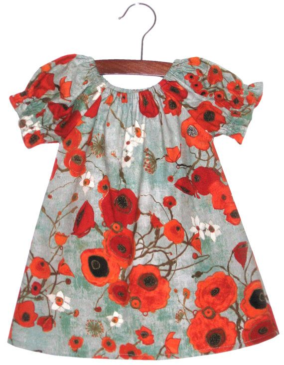 1a7e19a713 Cutest dress. Love the poppy fabric. | Spiffy Duds | Dresses, Baby ...