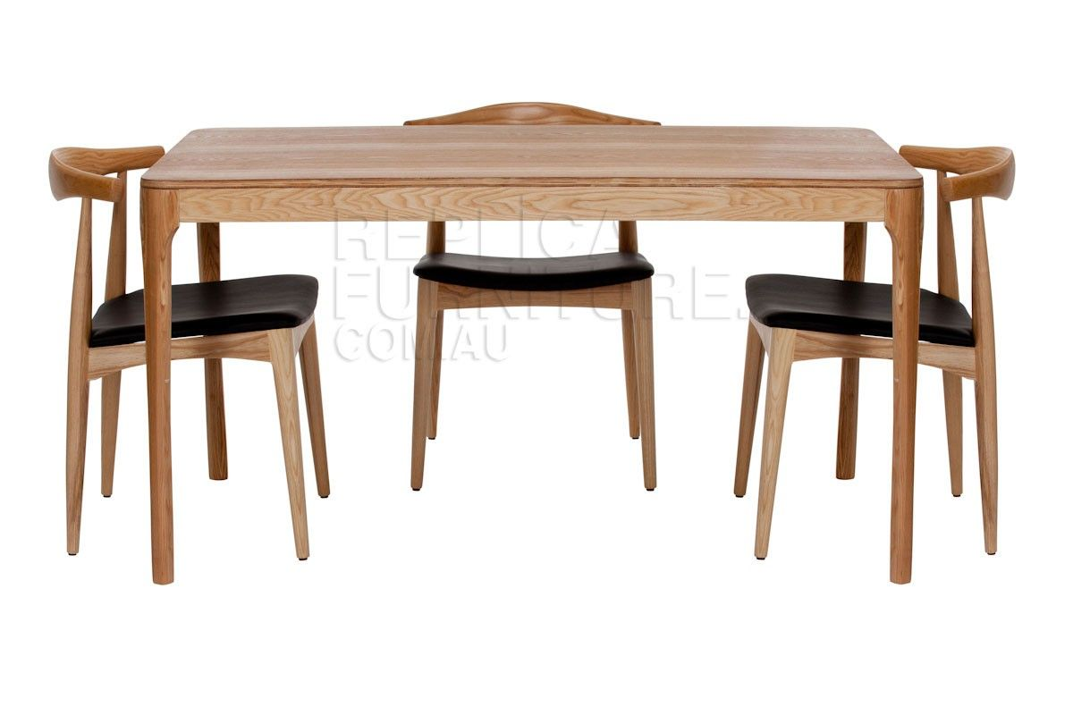 Replica Danish Dining Table With Distressed Wood