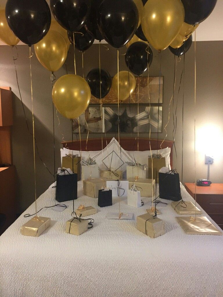 Today is my boyfriends th birthday and  surprised him with this set up also best matts bday images romantic evening ideas rh pinterest