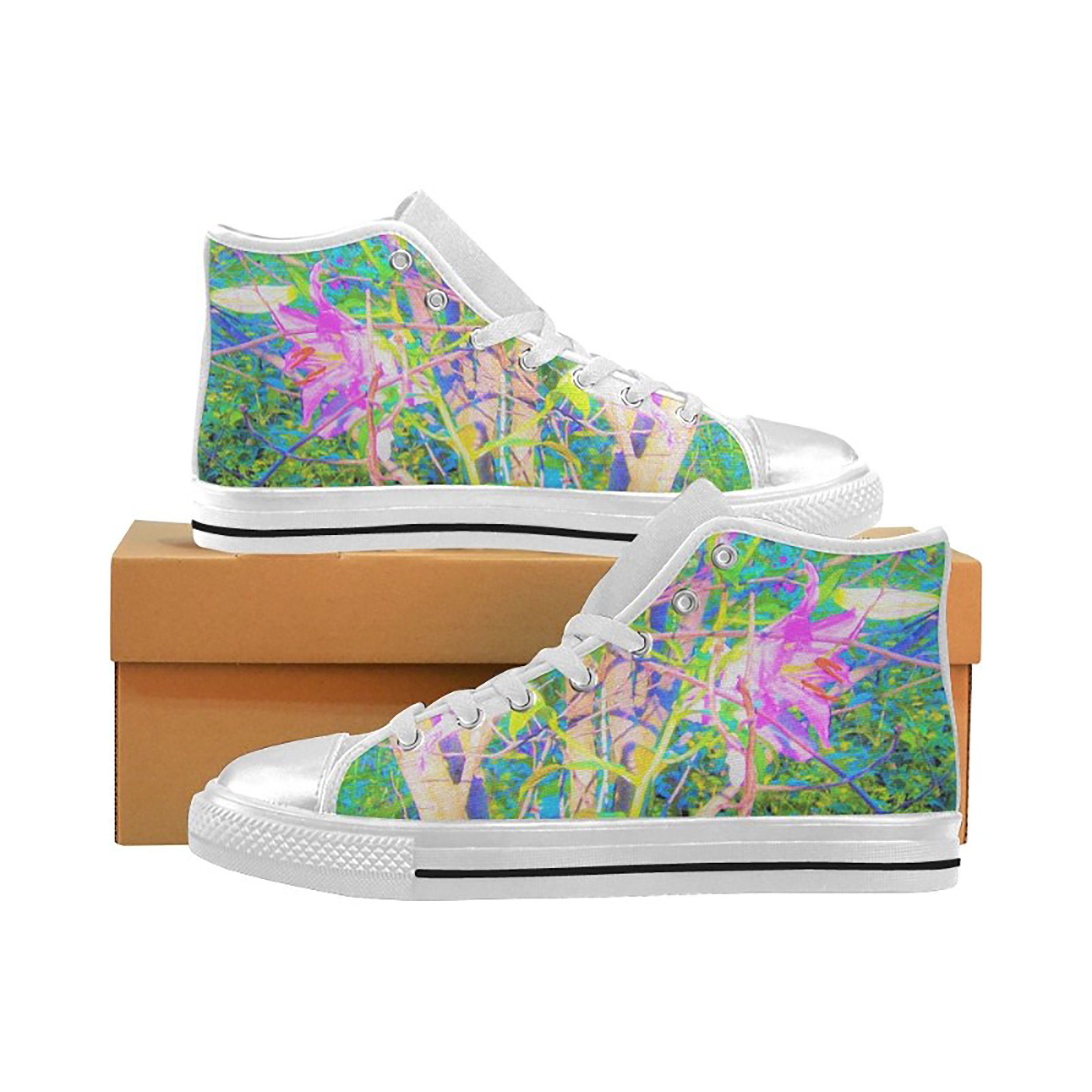 Abstract Colorful Low Top Canvas Sneakers Skateboard Shoes Slip on Lace-up Fashion Sneaker Shoe Women