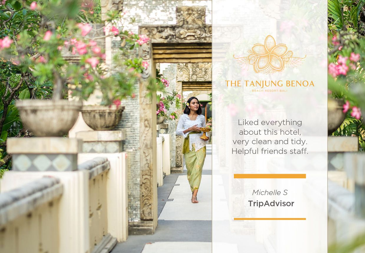 Another day, another lovely review from our lovely guest! Thank you Ms. Michelle for your excellent review through Tripadvisor. We can't wait to welcome you back with us at #TheTanjungBenoaBeachResort.  #TheTanjungBenoa #TheTaoBali #Bali